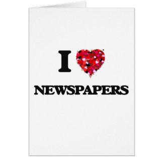 Tarjeta Amo los periódicos