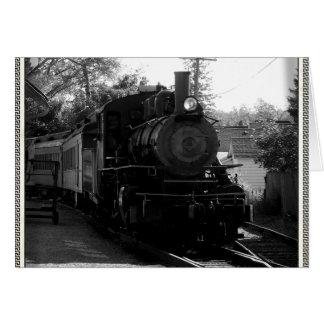 Tarjeta Amo los trenes viejos - arcada y ferrocarril de la