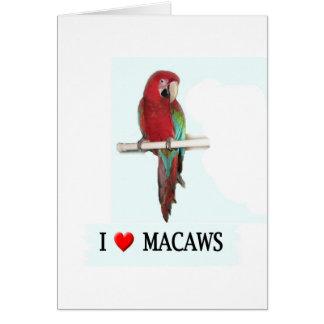Tarjeta Amo Macaws