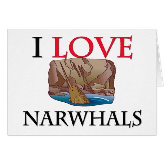 Tarjeta Amo Narwhals