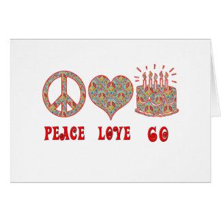 Tarjeta Amor 60 de la paz