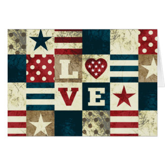 Tarjeta Amor América patriótica