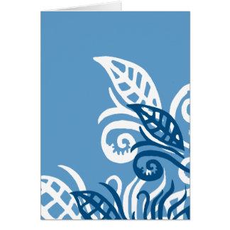 Tarjeta amor azul de dios del diseño del leafe usted