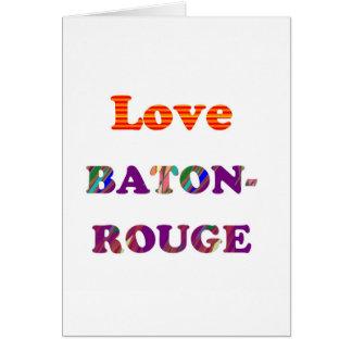 Tarjeta Amor BATON ROUGE Luisiana