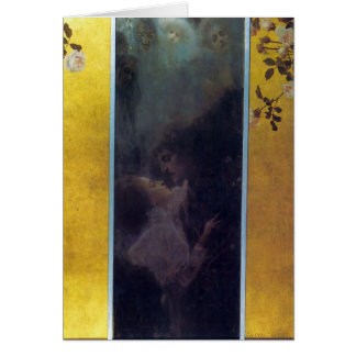Tarjeta Amor de Gustavo Klimt