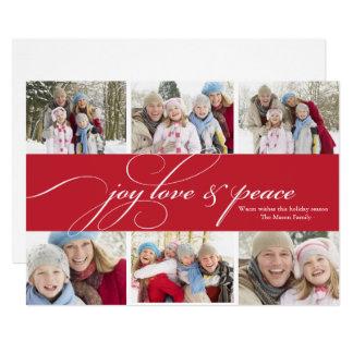 Tarjeta Amor de la alegría y día de fiesta de la foto de