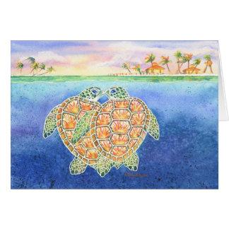Tarjeta Amor de la tortuga