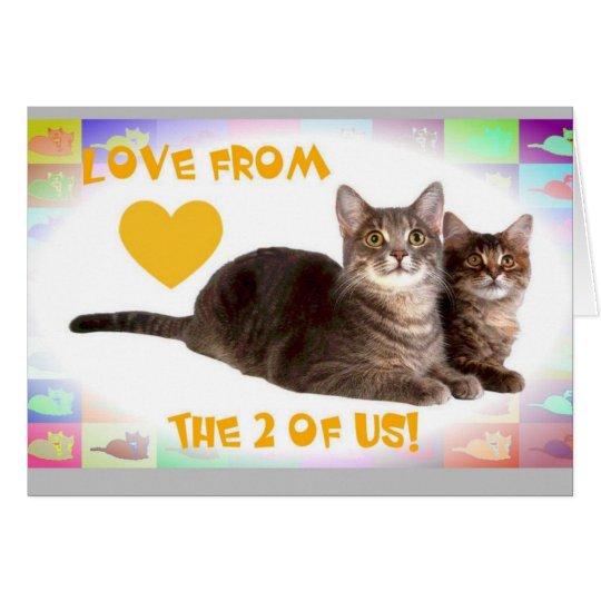 Tarjeta ¡Amor de los 2 de nosotros!