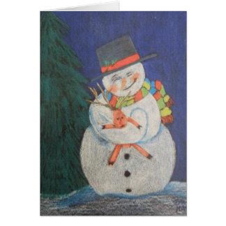 Tarjeta Amor de los muñecos de nieve