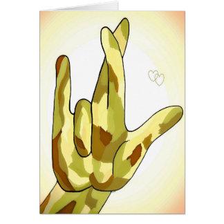 Tarjeta Amor del ASL I realmente que usted camufla