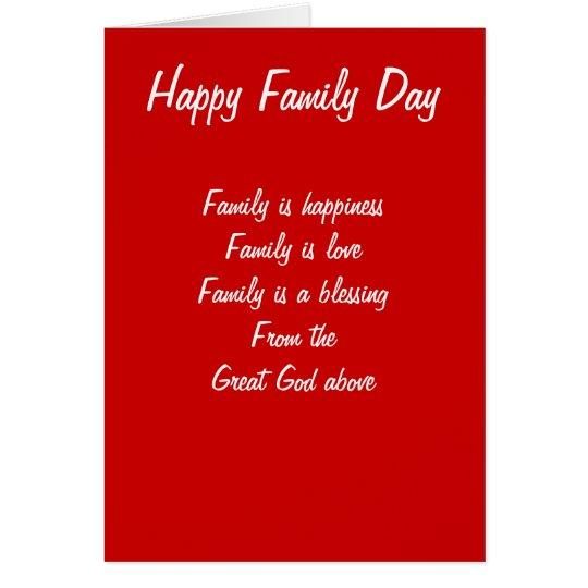 Tarjeta Amor del día de la familia