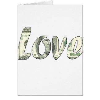 Tarjeta Amor del dólar