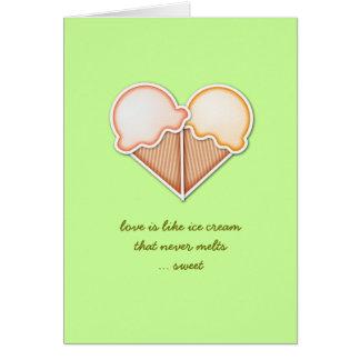 Tarjeta Amor del helado