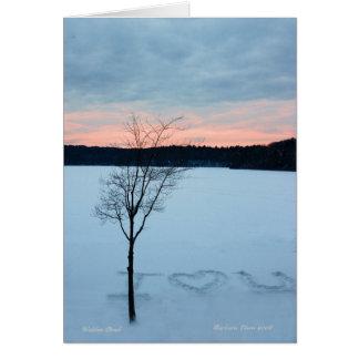 Tarjeta Amor del invierno