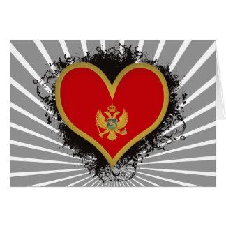 Tarjeta Amor Montenegro del vintage I
