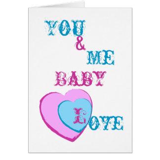 Tarjeta Amor-Personalizar del bebé