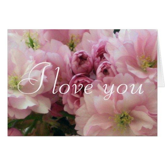 Tarjeta Amor romántico del el día de San Valentín