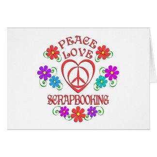 Tarjeta Amor Scrapbooking de la paz