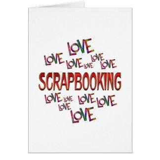 Tarjeta Amor Scrapbooking del amor