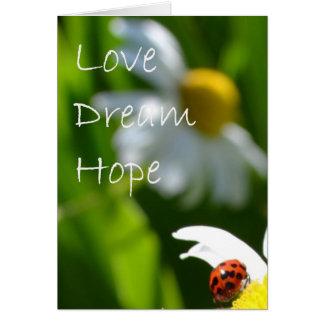 Tarjeta Amor, sueño, esperanza