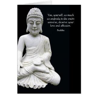 Tarjeta Amor y afecto de Buda