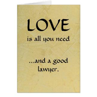 Tarjeta Amor y un buen abogado