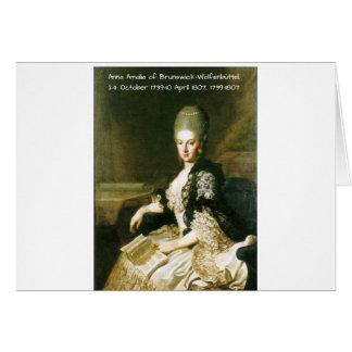 Tarjeta Ana Amalia de Brunswick-Wolfenbuttel 1739-1807