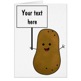 Tarjeta Añada su propio mensaje, patata