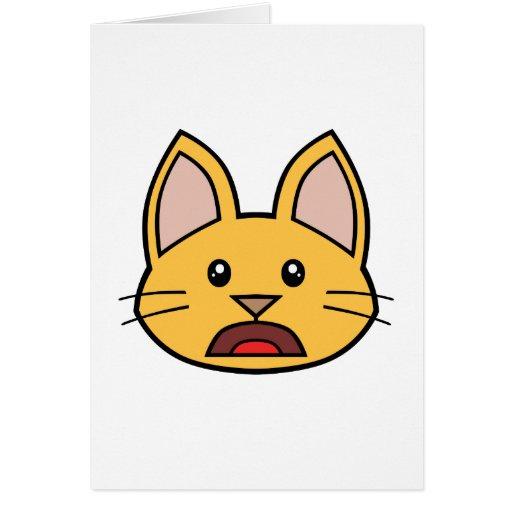 Tarjeta anaranjada 01 del gato FACE0000004