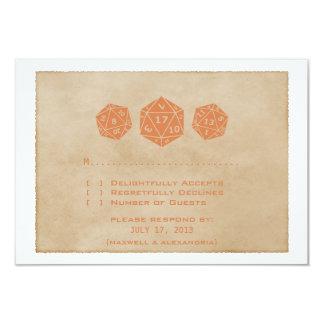 Tarjeta anaranjada CUSTOMDATE de RSVP del