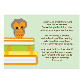 Tarjeta anaranjada de la petición del parte tarjetas de visita grandes