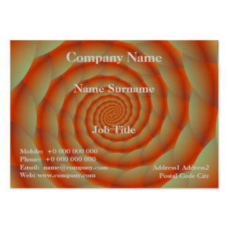 Tarjeta anaranjada del espiral de la piel de tarjetas de visita grandes