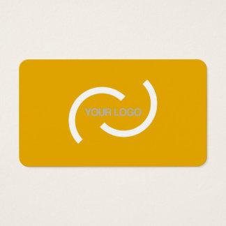 Tarjeta anaranjada elegante. Personalizar con su