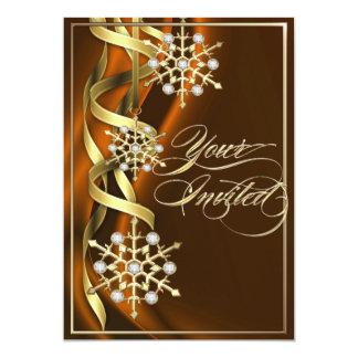 Tarjeta anaranjada Jeweled del día de fiesta del Invitación 12,7 X 17,8 Cm