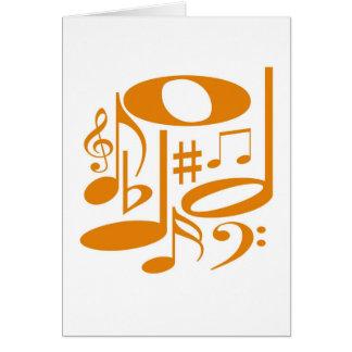 Tarjeta anaranjada musical