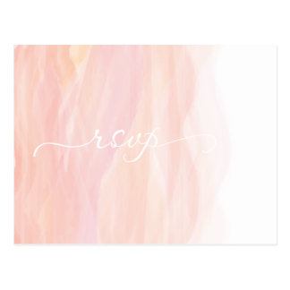 Tarjeta anaranjada rosada coralina de Ombre RSVP