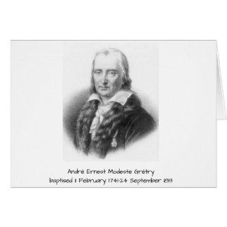Tarjeta André Ernesto Modeste Gretry