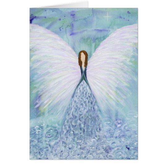 Tarjeta Ángel de guarda azul