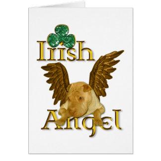 Tarjeta Ángel del irlandés del perro de Shar Pei del chino