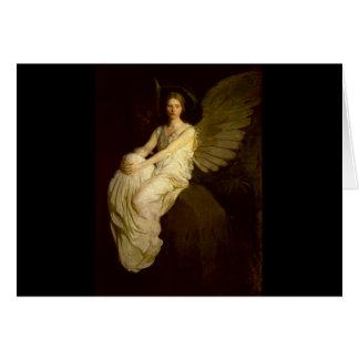 Tarjeta Ángel hermoso del vintage - Abbott Handerson