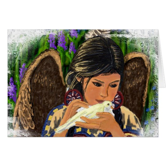 Tarjeta Ángel Notecard del nativo americano