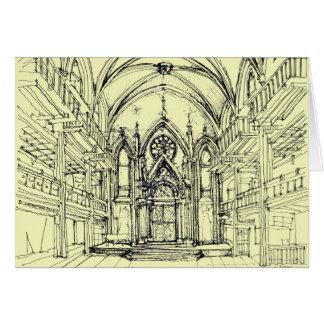 Tarjeta Ángel poner crema NYC gótico