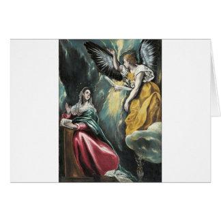 Tarjeta Ángel que habla a Maria