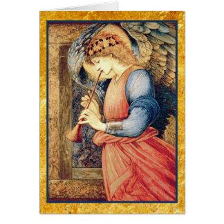 Tarjeta Ángel que juega navidad de una chirimia