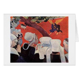 Tarjeta Ángel que lucha con Jacob, Paul Gauguin