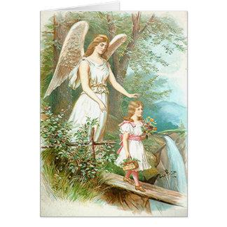 Tarjeta Ángel y chica de guarda