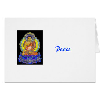 Tarjeta Añil Lotus Buda