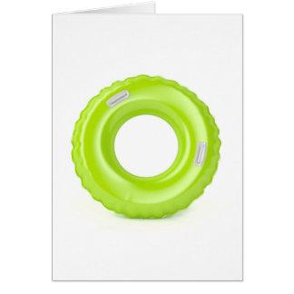 Tarjeta Anillo verde de la nadada
