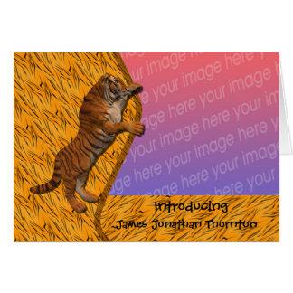 Tarjeta animal de la foto de la invitación del nac