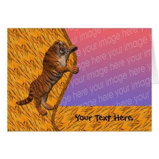 Tarjeta animal de la foto del tigre